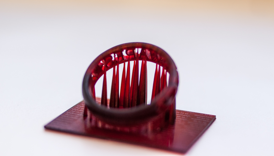 Ring in Asiga SuperCast gedruckt auf einem Asiga Freeform PICO
