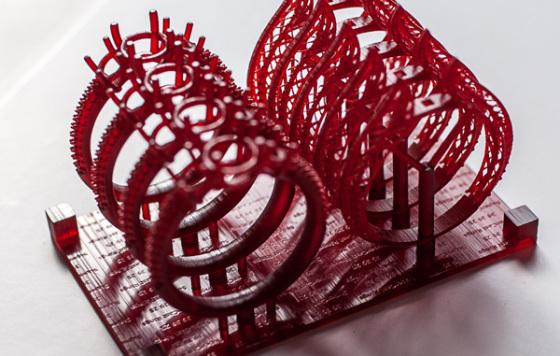 Ringe in Asiga SuperCast gedruckt auf einem Asiga Freeform PICO