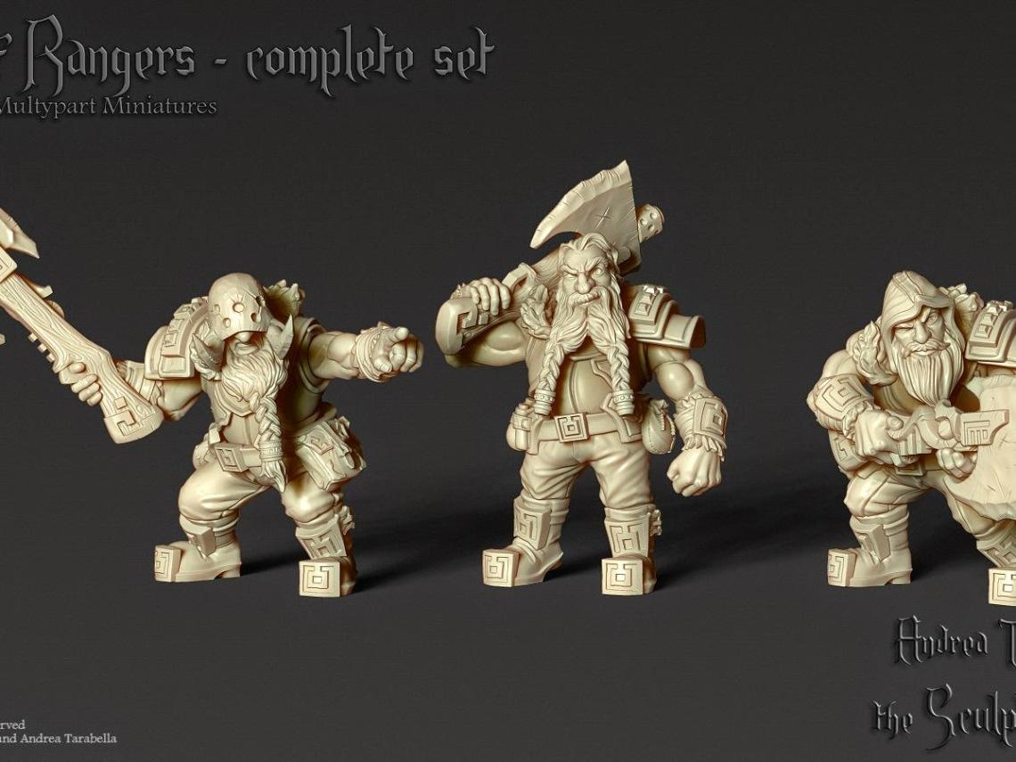 Dwarf Ranger - rendering by Andrea Tarabella