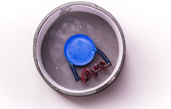 Anstiften und Einbetten des Drachenmodells gedruckt mit SuperCast auf einer Asiga Freeform PICO